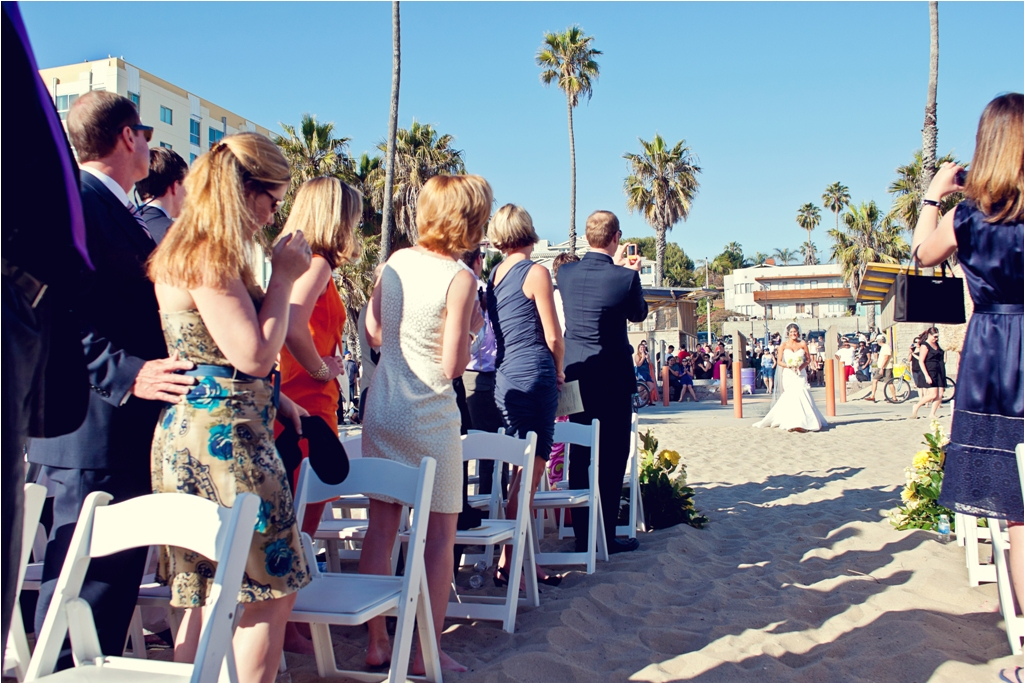 I Do {How To's}: Santa Monica Beach Wedding Ceremony