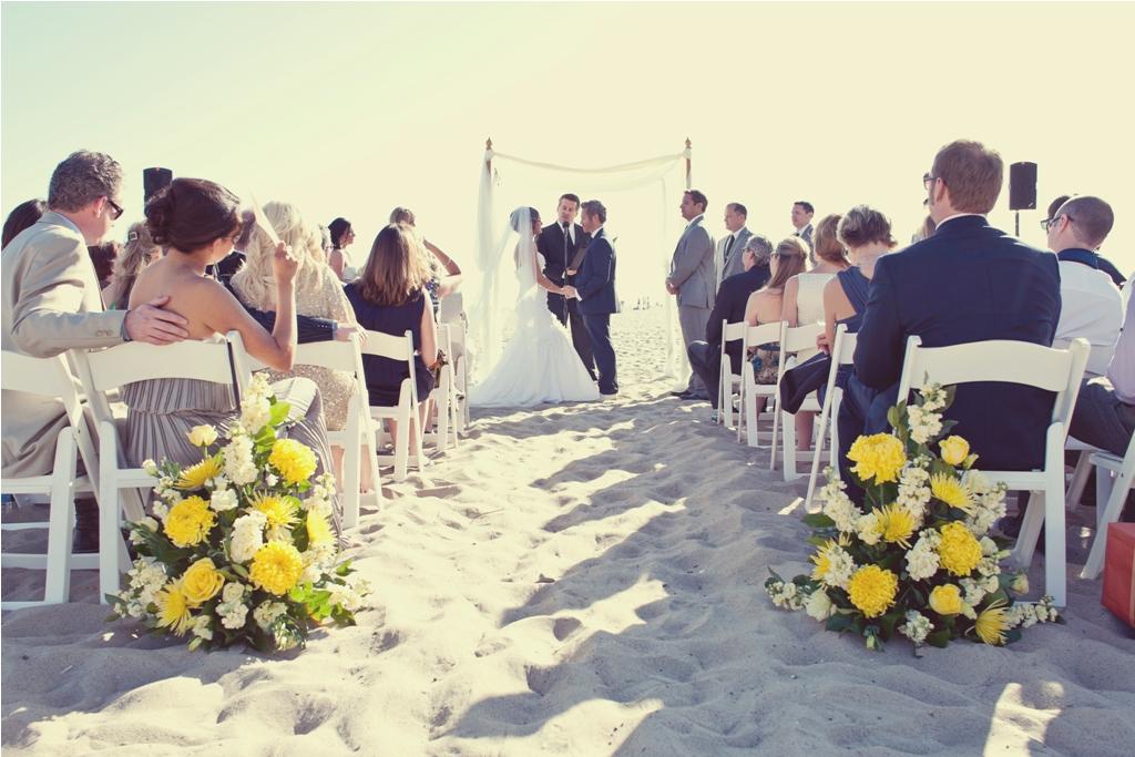 I Do {How To's}: Santa Monica Beach Wedding Ceremony